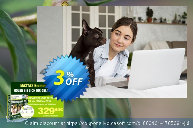 MAXTAX - Beraterversion 2017 - 100 Akten discount 3% OFF, 2019 Back to School event offer