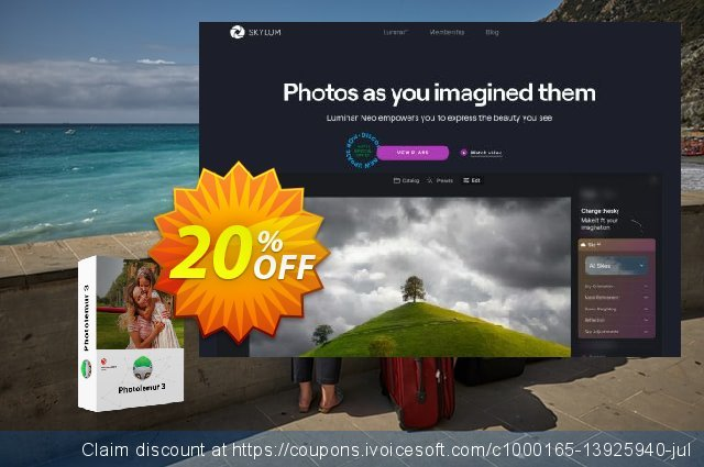 Photolemur 3 Upgrade discount 20% OFF, 2020 Happy New Year offering sales