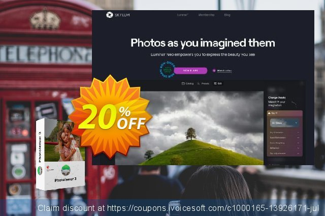 Photolemur 3 Family License discount 20% OFF, 2020 Happy New Year offering sales