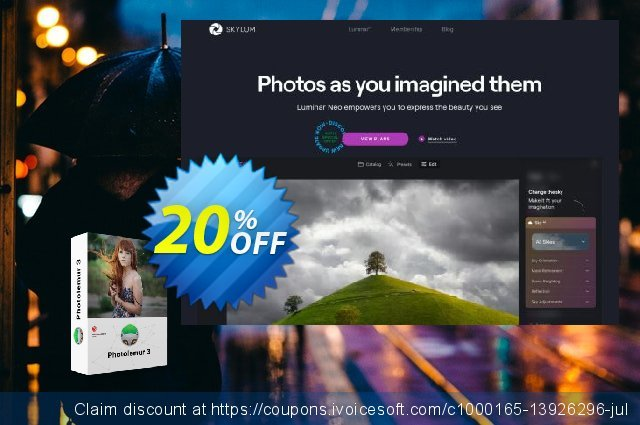 Photolemur 3 discount 20% OFF, 2021 Mother Day offering sales. DEROOIJ