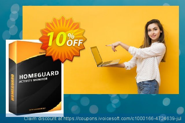 HomeGuard Activity Monitor 4 Users License discount 10% OFF, 2020 Spring discounts