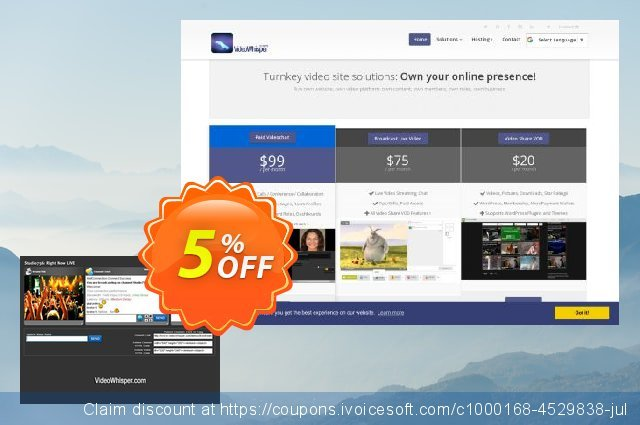 Live Video Streaming discount 5% OFF, 2021 New Year offering sales