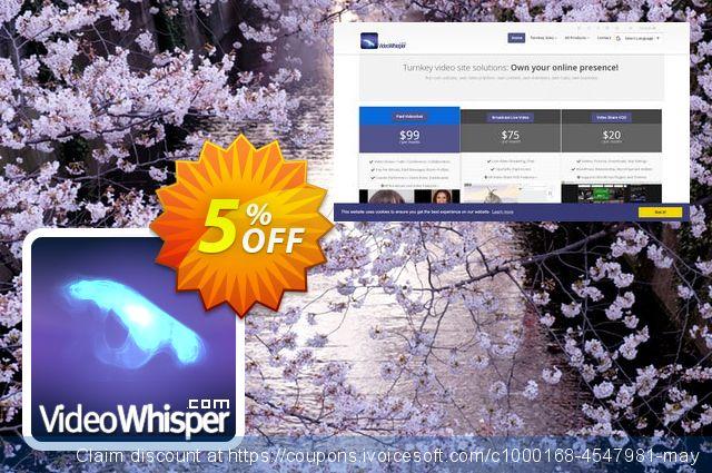 VideoWhisper Level1 License Monthly Rental + Premium2 Red5 Hosting 令人惊奇的 产品销售 软件截图