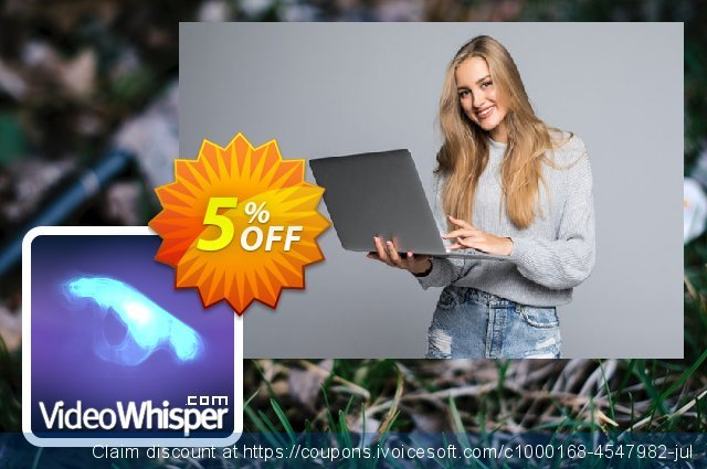 VideoWhisper Level1 License Monthly Rental + StreamStartup Hosting discount 5% OFF, 2020 Exclusive Student deals offer
