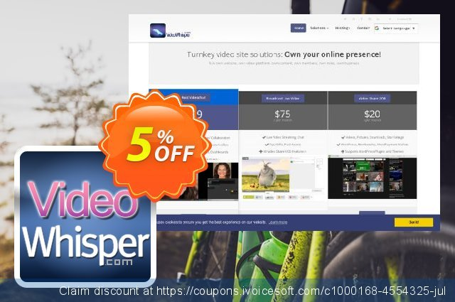 ClipShare VideoWhisper Webcam Plugins discount 5% OFF, 2019 Exclusive Student discount sales
