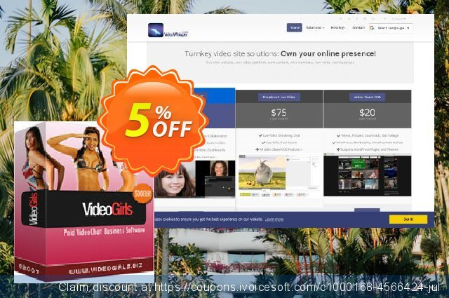 VideoGirls BiZ Turnkey PPV Video Chat Script discount 5% OFF, 2020 Happy New Year promo sales