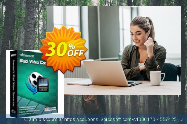 Aneesoft iPad Video Converter discount 30% OFF, 2020 Spring offering deals