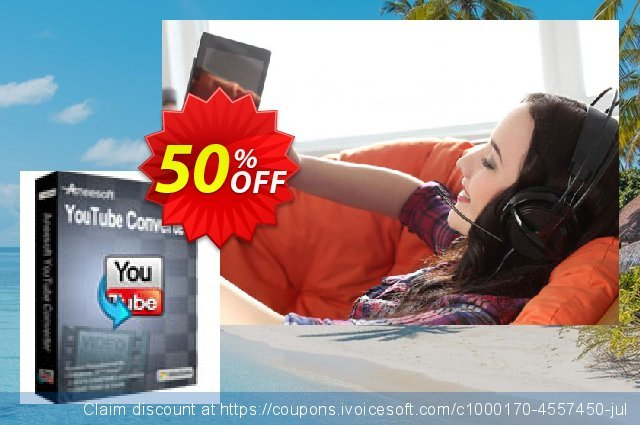 Aneesoft YouTube Converter discount 50% OFF, 2021 January offering sales
