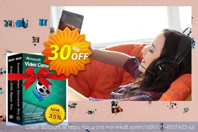 Aneesoft Video Converter Suite discount 30% OFF, 2021 Mother Day promotions. Aneesoft Video Converter Suite impressive sales code 2021