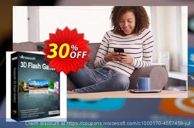 Aneesoft 3D Flash Gallery discount 30% OFF, 2020 Happy New Year deals