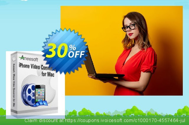 Aneesoft iPhone Video Converter for Mac discount 30% OFF, 2020 Rose Day promo