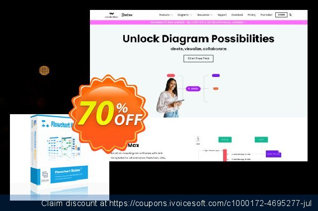 Flowchart Maker Lifetime License discount 30% OFF, 2019 Thanksgiving Day offering sales
