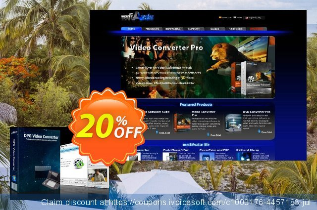 mediAvatar DPG Converter discount 20% OFF, 2020 Labour Day promo sales