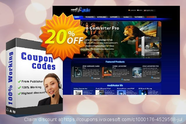 mediAvatar DVD Converter 3 discount 20% OFF, 2019 Thanksgiving Day promo