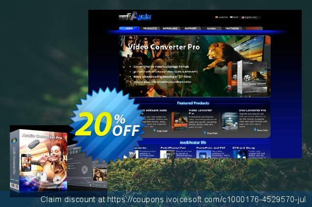 mediAvatar Audio Converter Pro discount 20% OFF, 2021 New Year's Day sales