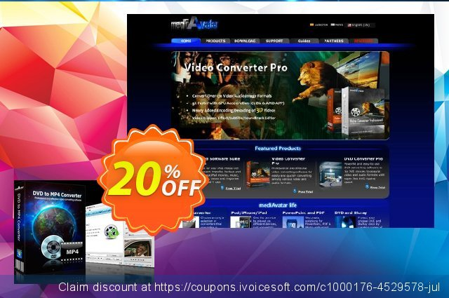 mediAvatar DVD to MP4 Converter discount 20% OFF, 2020 Happy New Year promo