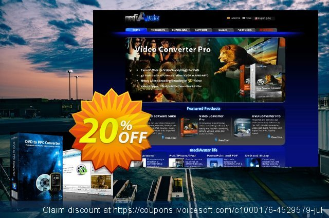 mediAvatar DVD to Pocket PC Converter discount 20% OFF, 2020 Halloween promotions