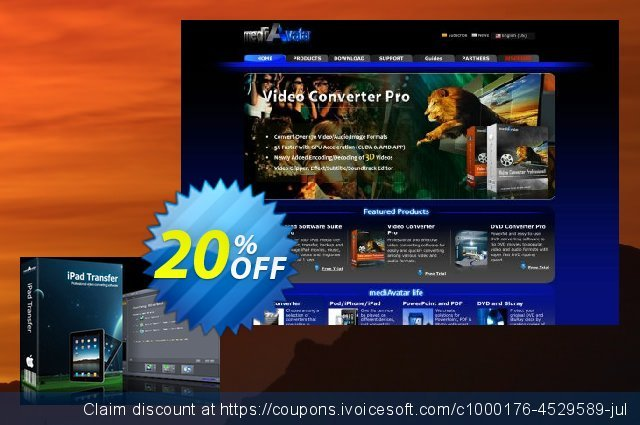 mediAvatar iPad to Mac Transfer discount 20% OFF, 2019 Exclusive Student deals promo