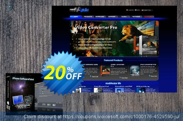 mediAvatar iPhone Software Suite Mac discount 20% OFF, 2020 Working Day offering sales