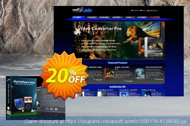 mediAvatar iPod Software Suite for Mac discount 20% OFF, 2020 Halloween offering sales