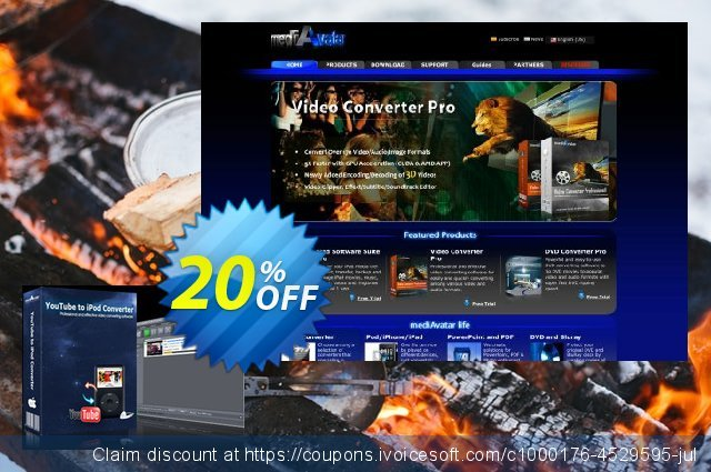 mediAvatar YouTube to iPod Converter for Mac discount 20% OFF, 2019 Teacher deals offering sales