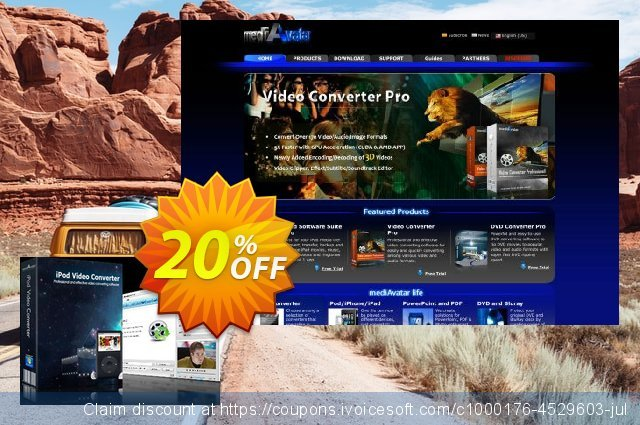 mediAvatar iPod Video Converter discount 20% OFF, 2020 Halloween offering discount
