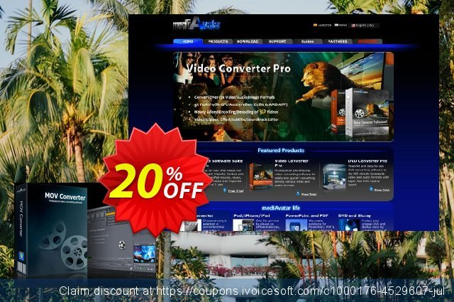 mediAvatar MOV Converter discount 20% OFF, 2019 Back to School offer promo sales