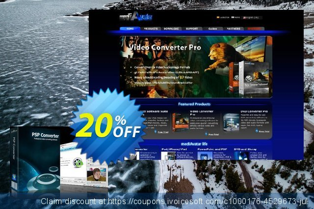 mediAvatar PSP Converter discount 20% OFF, 2019 Exclusive Student deals offering sales