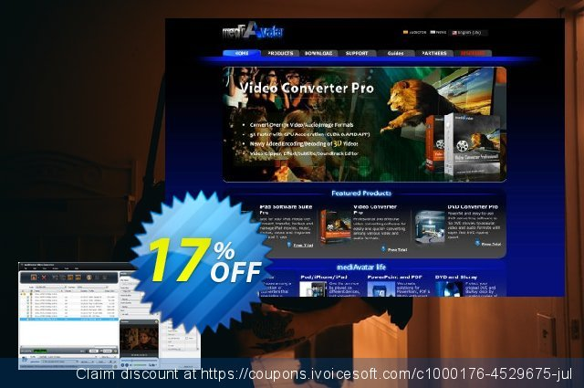 mediAvatar Video Converter Pro discount 17% OFF, 2020 New Year's Day offering sales