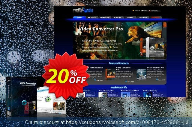 mediAvatar Zune Converter discount 20% OFF, 2019 College Student deals offering sales