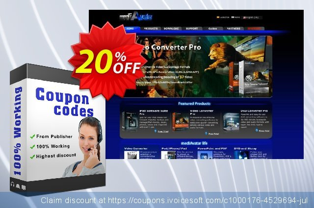 mediAvatar FLV to DVD Converter discount 20% OFF, 2019 Exclusive Student deals promotions