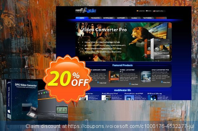 mediAvatar DPG Converter for Mac discount 20% OFF, 2020 Father's Day sales