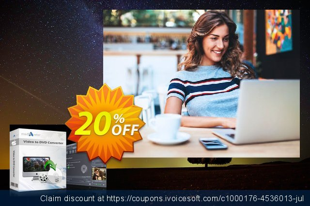 mediAvatar Video to DVD Converter for Mac discount 20% OFF, 2020 Summer promo