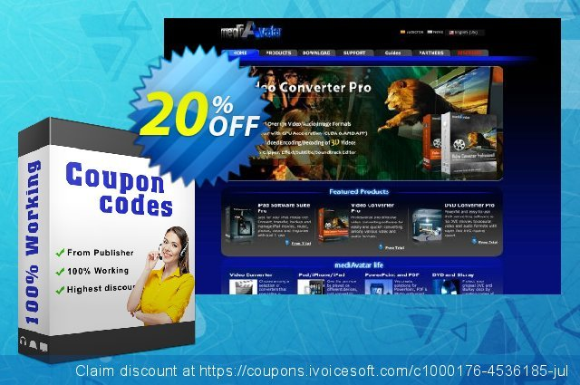 mediAvatar DVD Copy for Mac discount 20% OFF, 2021 Easter day offering deals