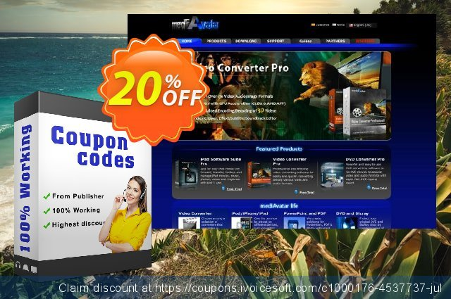 mediAvatar Photo DVD Slideshow discount 20% OFF, 2020 4th of July discount