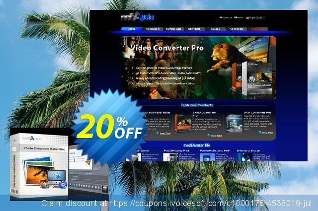 mediAvatar Photo Slideshow Maker for Mac discount 20% OFF, 2020 Thanksgiving Day offering discount