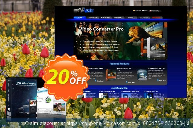 mediAvatar iPod Video Converter for Mac discount 20% OFF, 2020 Back to School deals offering sales