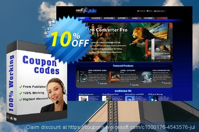 mediAvatar Video Joiner for Mac discount 10% OFF, 2019 Student deals offering sales