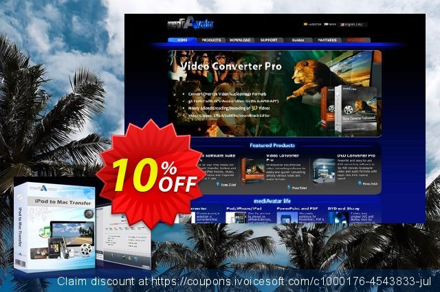 mediAvatar iPod to Mac Transfer discount 10% OFF, 2019 Teacher deals offer