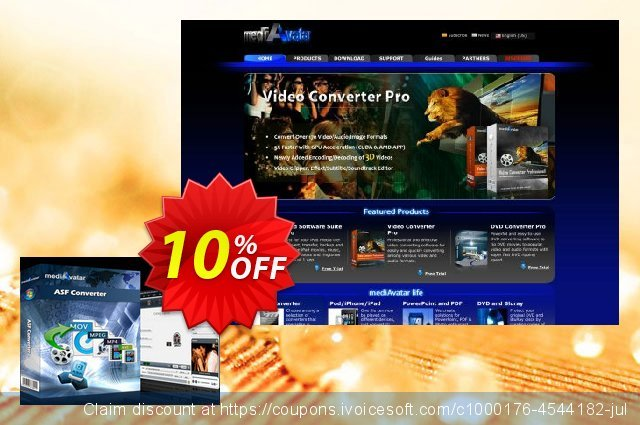 mediAvatar ASF Converter discount 10% OFF, 2020 Halloween offering sales