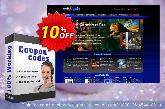 mediAvatar DAT Converter discount 10% OFF, 2019 Back to School season offering sales