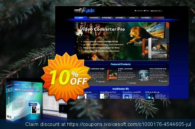 mediAvatar MP3 Converter discount 10% OFF, 2019 Student deals offering sales