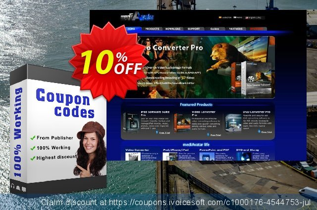 mediAvatar YouTube to iPhone Converter for Mac discount 10% OFF, 2020 Xmas Day offering sales