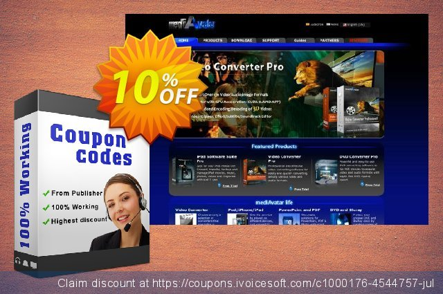 mediAvatar YouTube to iPad Converter discount 10% OFF, 2019 Christmas discounts