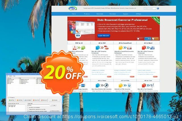 Okdo All to Gif Tiff Converter Professional discount 20% OFF, 2021 New Year discount