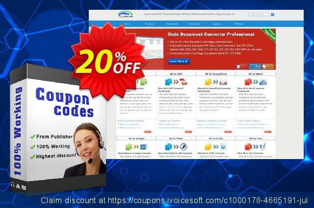 Okdo Tiff Jpeg Bmp to Swf Converter discount 20% OFF, 2021 January offering sales