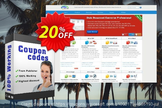 Okdo Tiff Png Jpg Bmp Wmf to Pdf Converter discount 20% OFF, 2021 New Year's Weekend offering sales