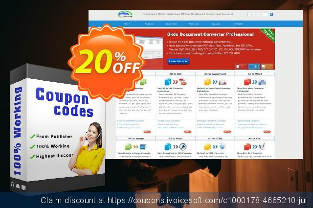 Okdo Word Excel PowerPoint to Image Converter discount 20% OFF, 2021 New Year's Day offering sales