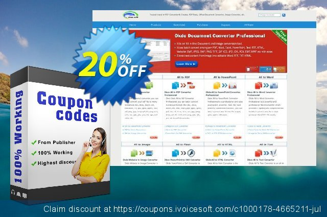 Okdo Word Excel PowerPoint to Jpeg Converter discount 20% OFF, 2021 Happy New Year offering sales