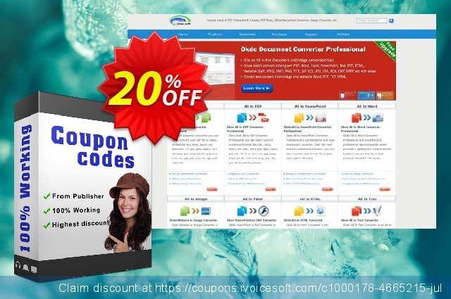 Okdo Word Gif to Pdf Converter discount 20% OFF, 2021 Spring offering sales
